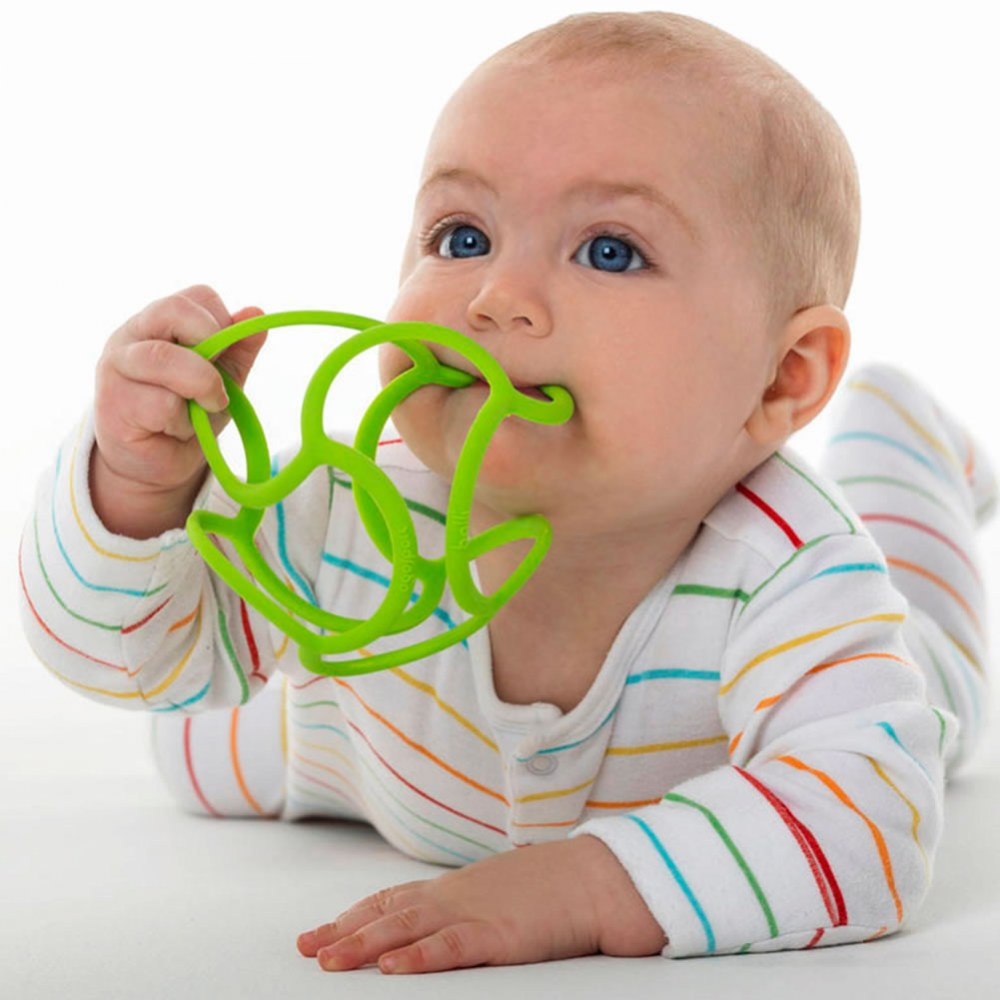 Bolli Balls Flexible Teether Ball - Color will vary - Set of 3