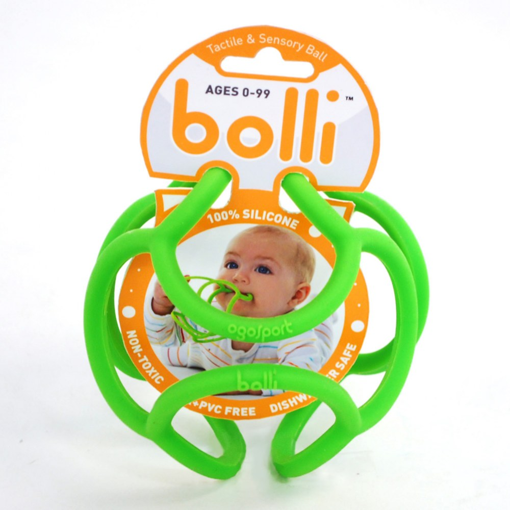 Alternate Image #3 of Bolli Balls Flexible Teether Ball - Color will vary - Set of 3