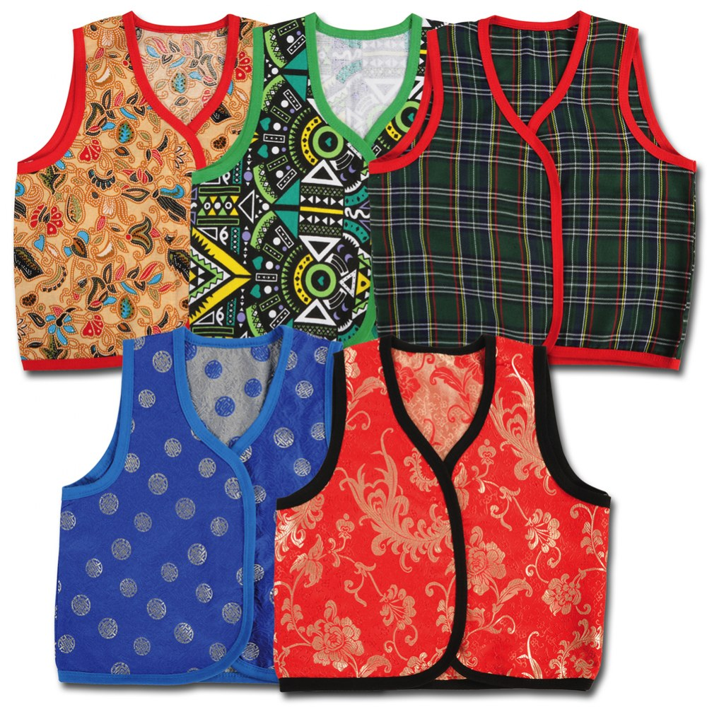 Toddler Multicultural Vests - Set of 5