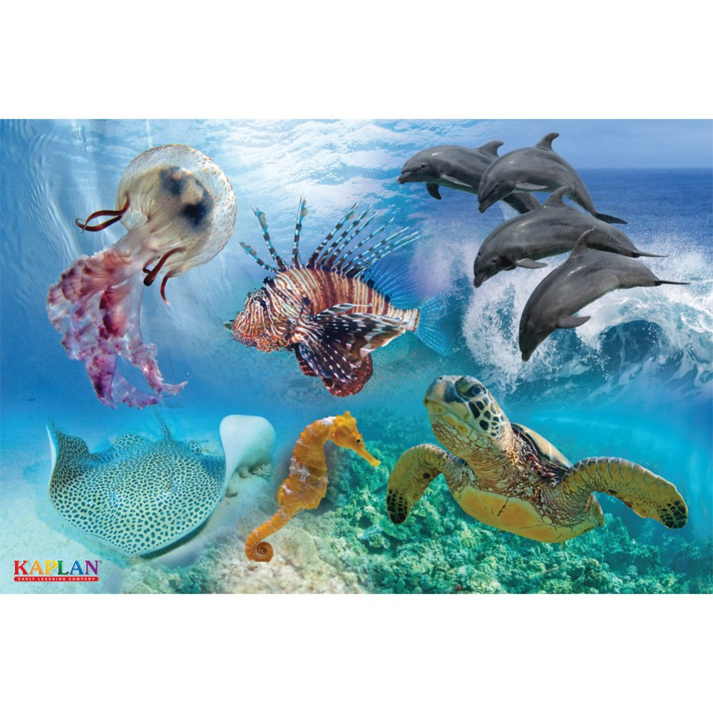 Alternate Image #1 of Sea Life Floor Puzzle - 24 Pieces