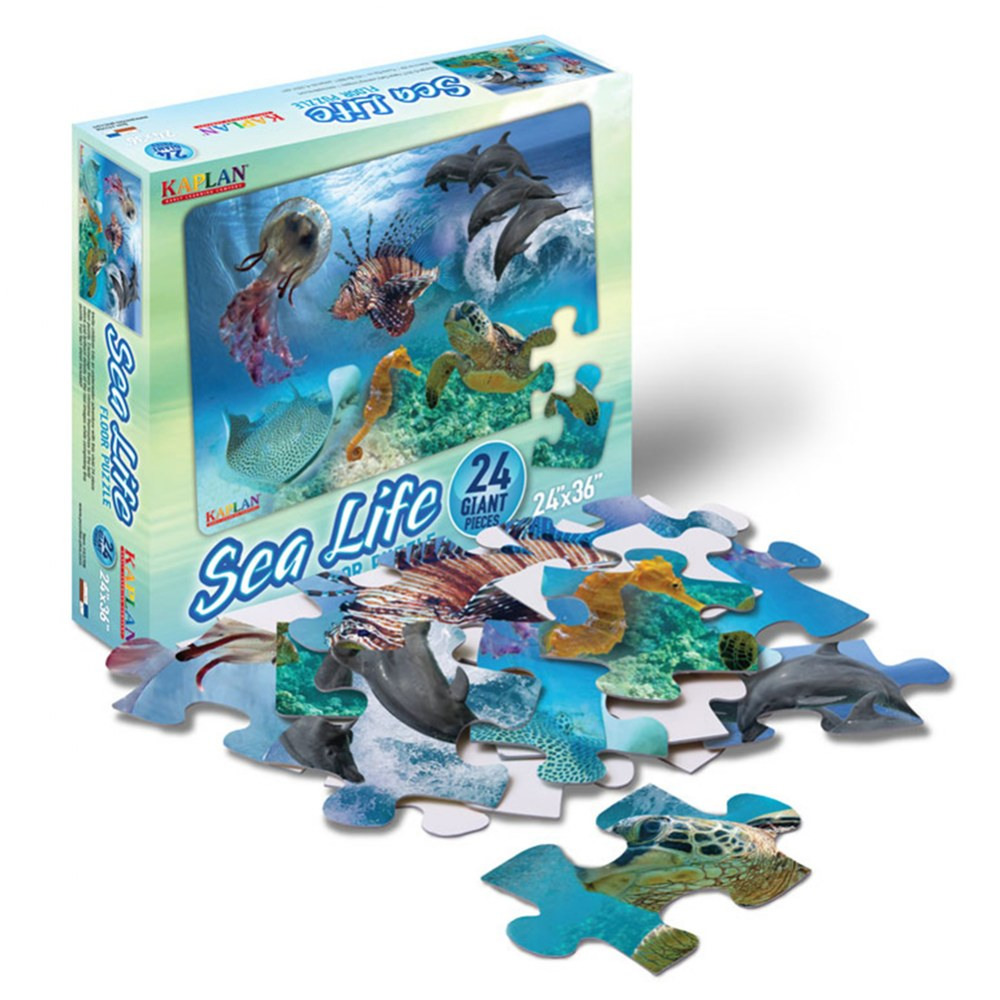 Alternate Image #2 of Sea Life Floor Puzzle - 24 Pieces