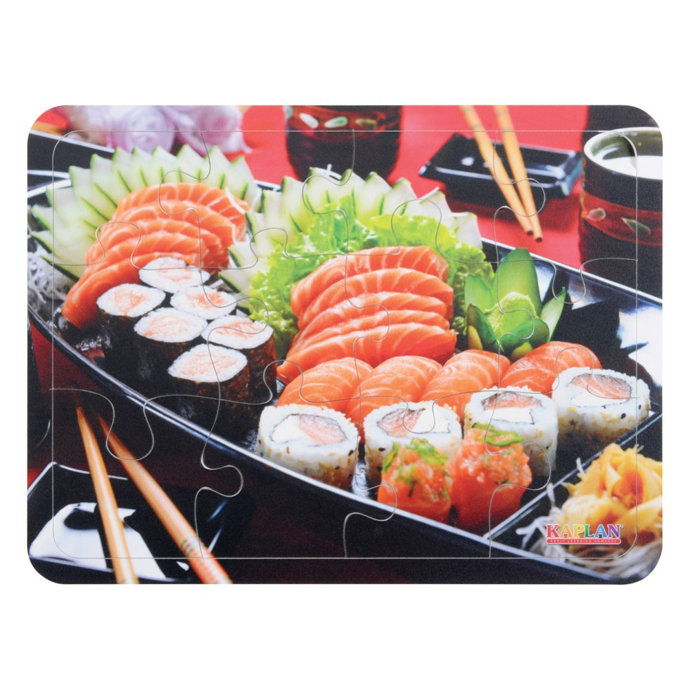 Alternate Image #3 of Real Image Cultural Food 12 Piece Puzzles - Set of 6