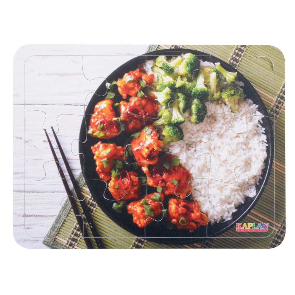 Alternate Image #6 of Real Image Cultural Food 12 Piece Puzzles - Set of 6