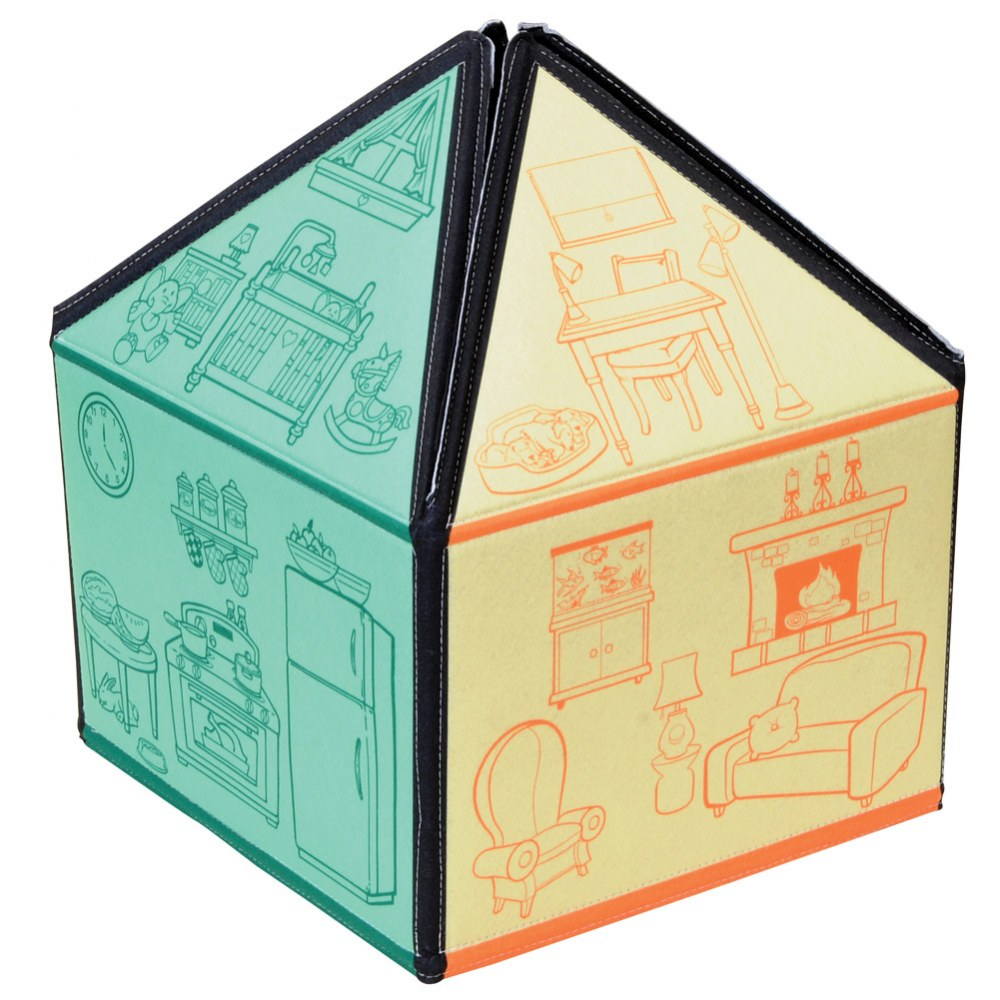 Alternate Image #2 of My Little House 3D Felt Playhouse
