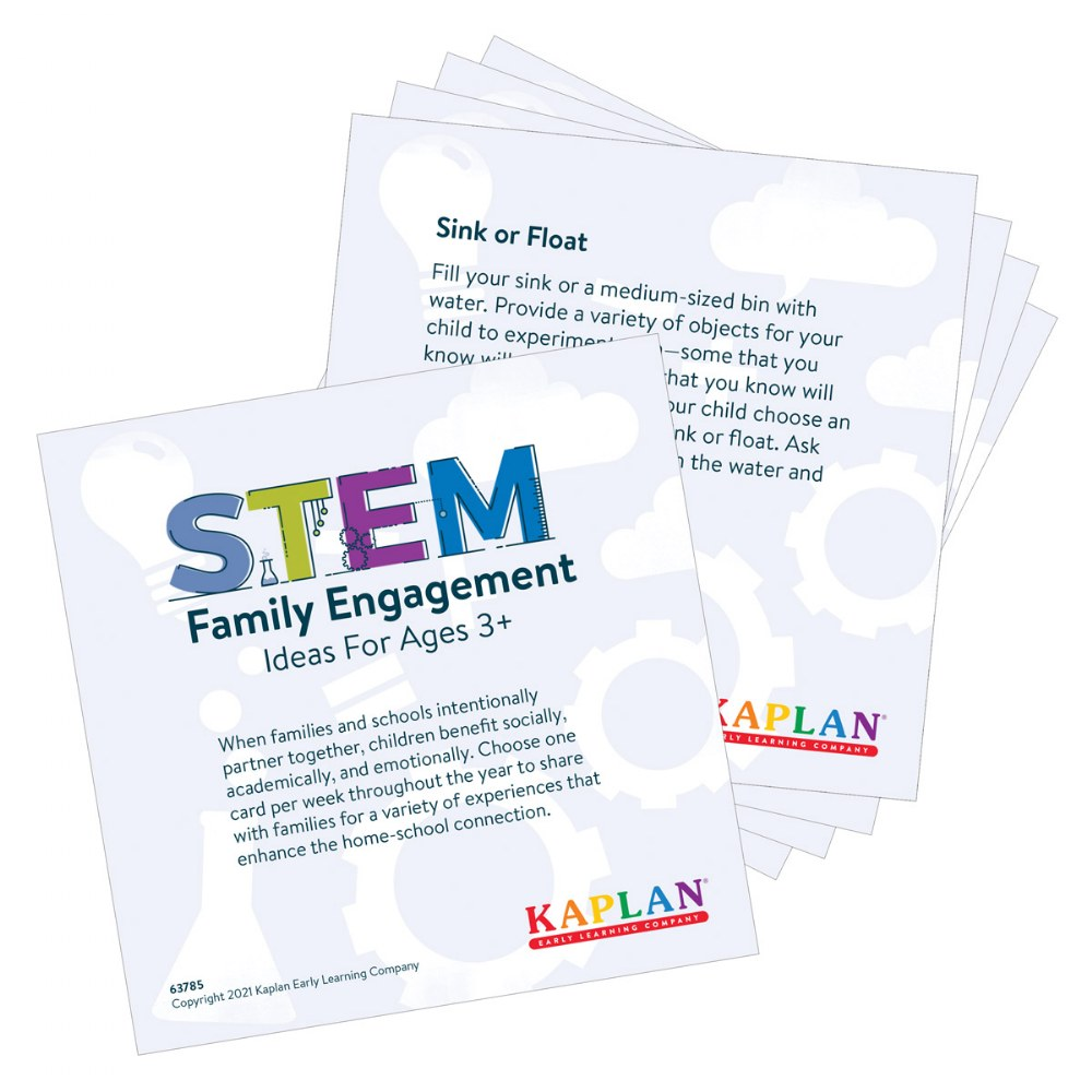 "Alternate Image #1 of 52 STEM Family Engagement Ideas - 5"" x 5"" Activity Cards"