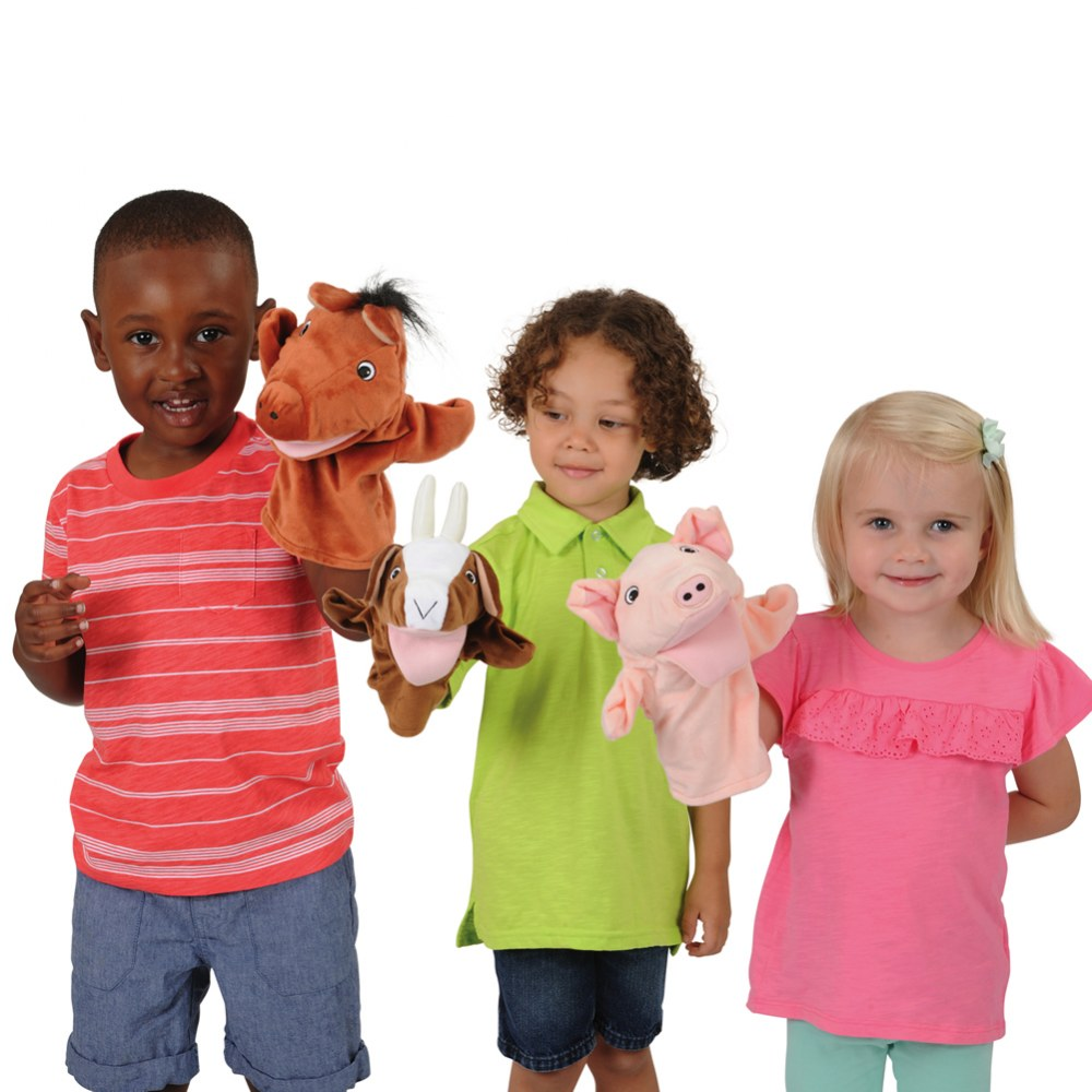 Alternate Image #1 of Farm Animal Puppets - Set of 6