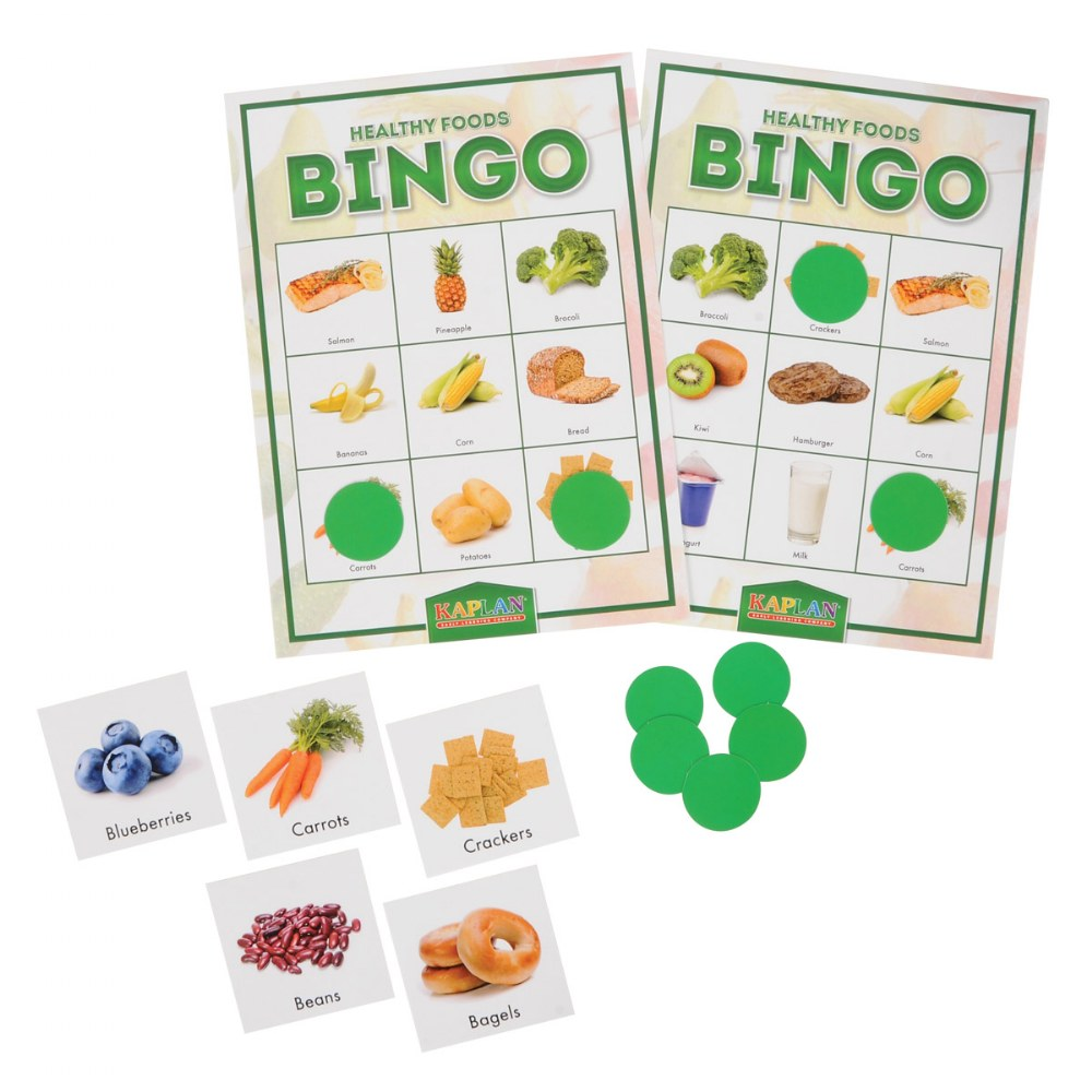 Healthy Foods & Nutrition Recognition Bingo Learning Game For Kids