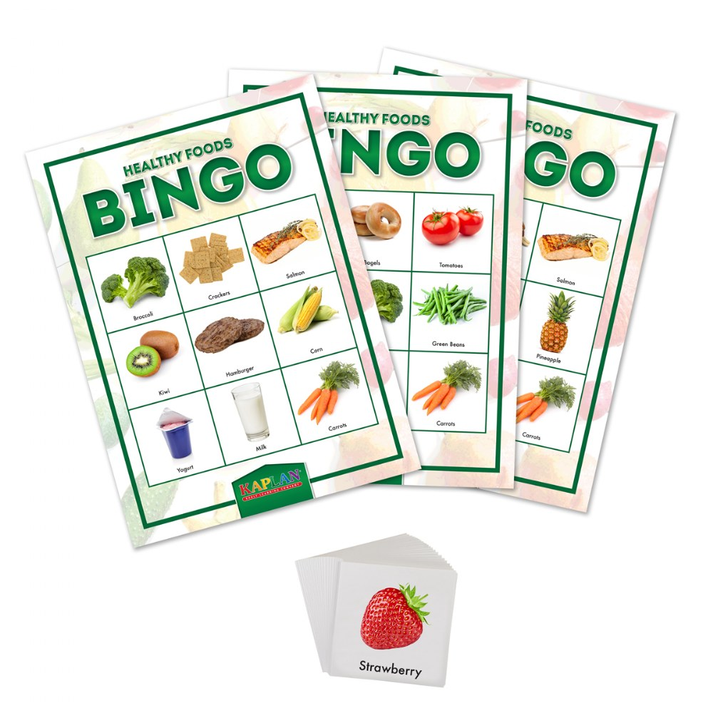 Alternate Image #1 of Healthy Foods & Nutrition Recognition Bingo Learning Game For Kids