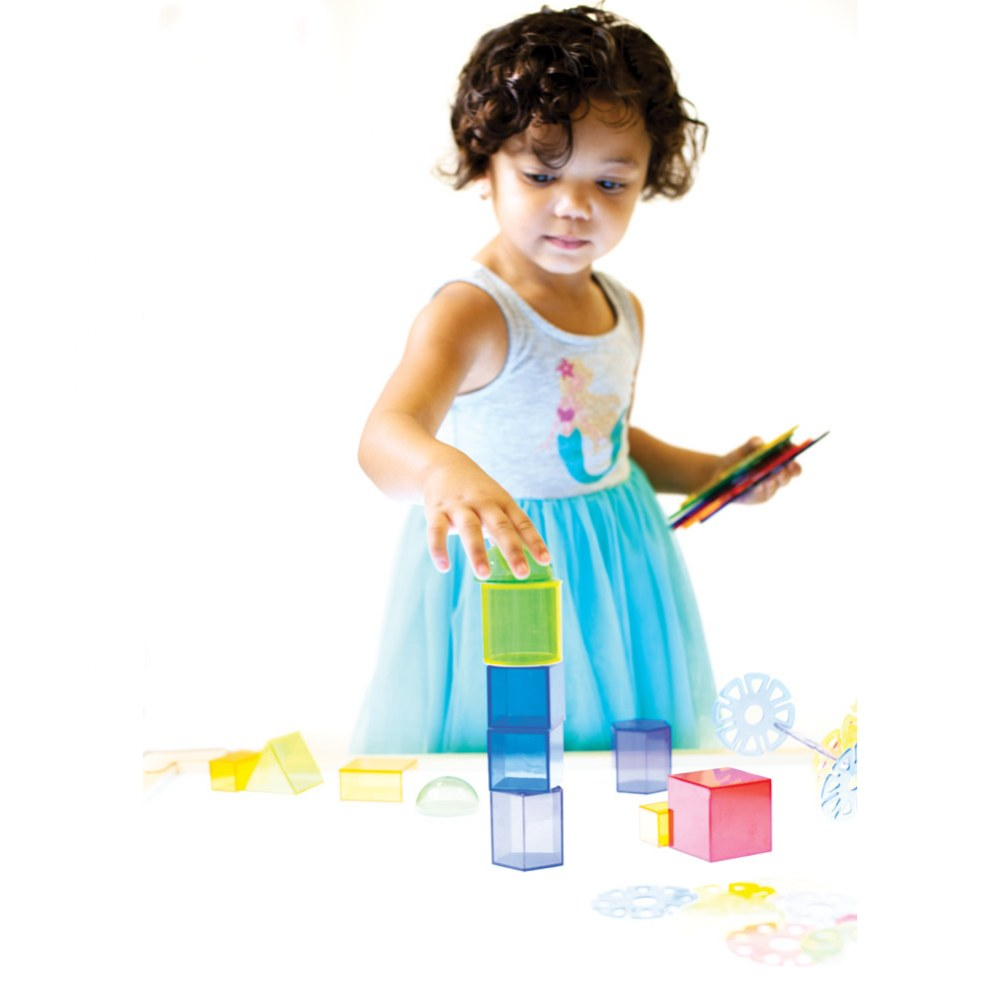 Alternate Image #1 of Toddler Light Table Discovery Set - 84 Pieces
