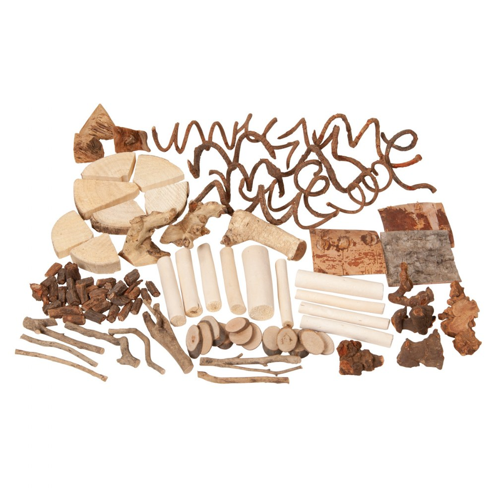 Natural Wooden Loose Parts Kit
