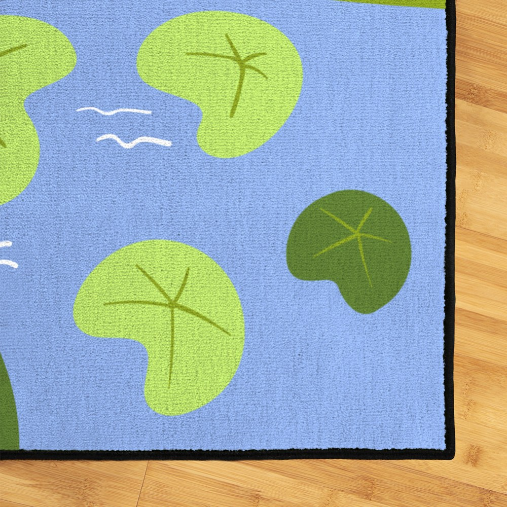Alternate Image #1 of Lily Pad 6' x 9' Carpet
