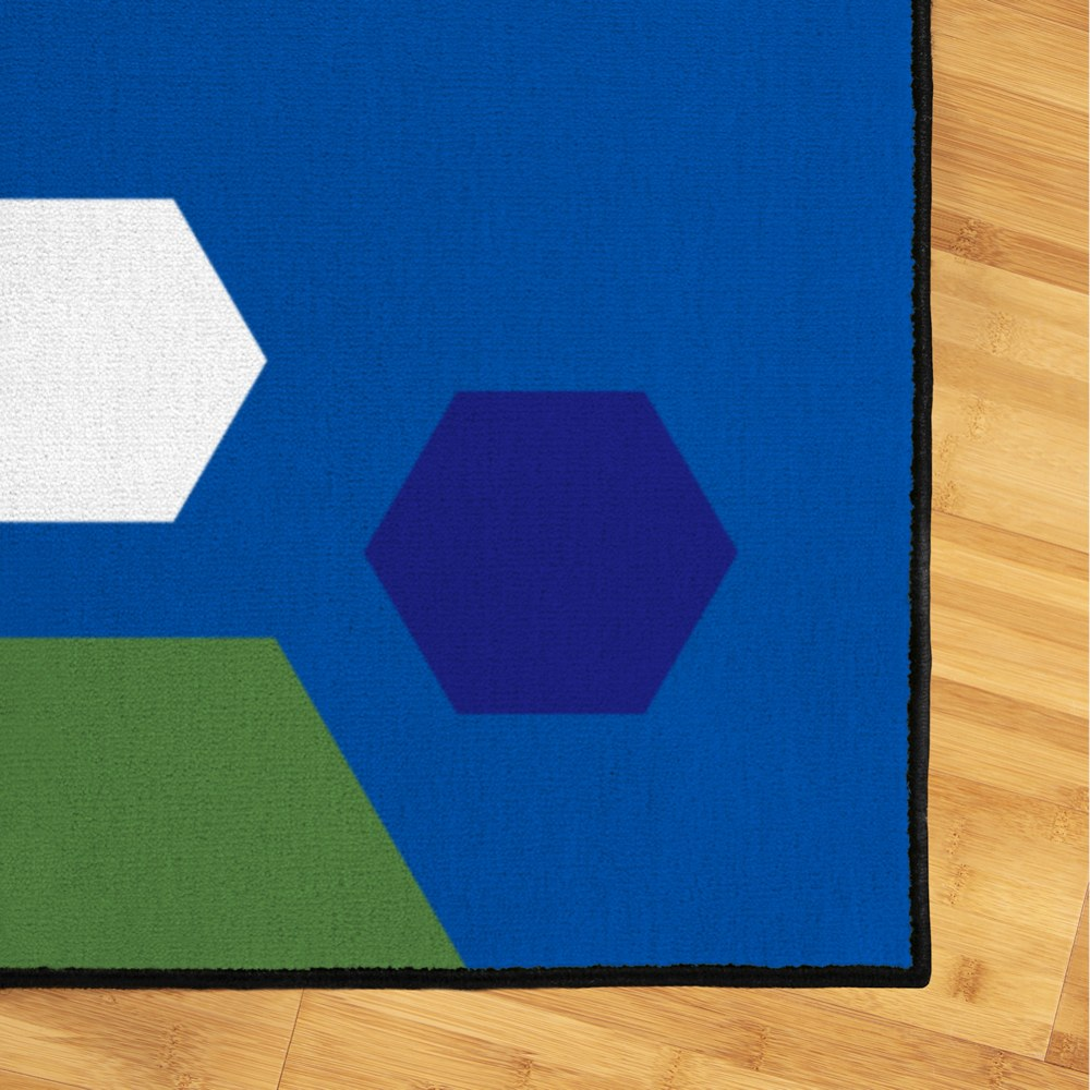 Alternate Image #2 of Primary Hexagon Carpet - 6' x 9'