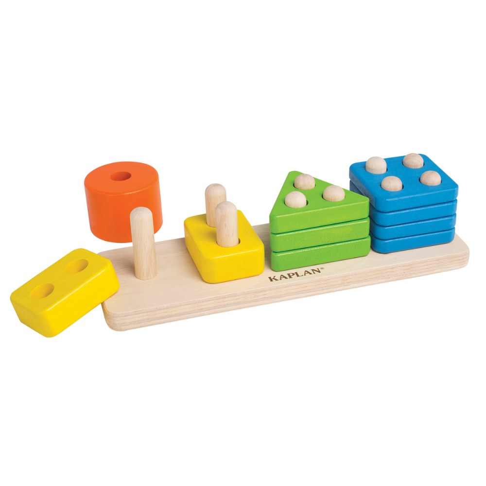 Alternate Image #1 of Toddler Wooden One to Four Counter