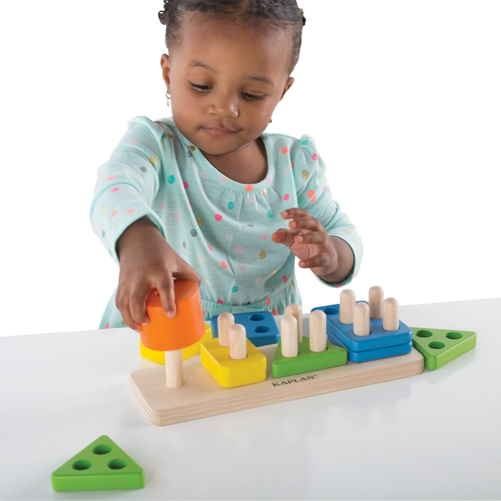 Alternate Image #2 of Toddler Wooden One to Four Counter
