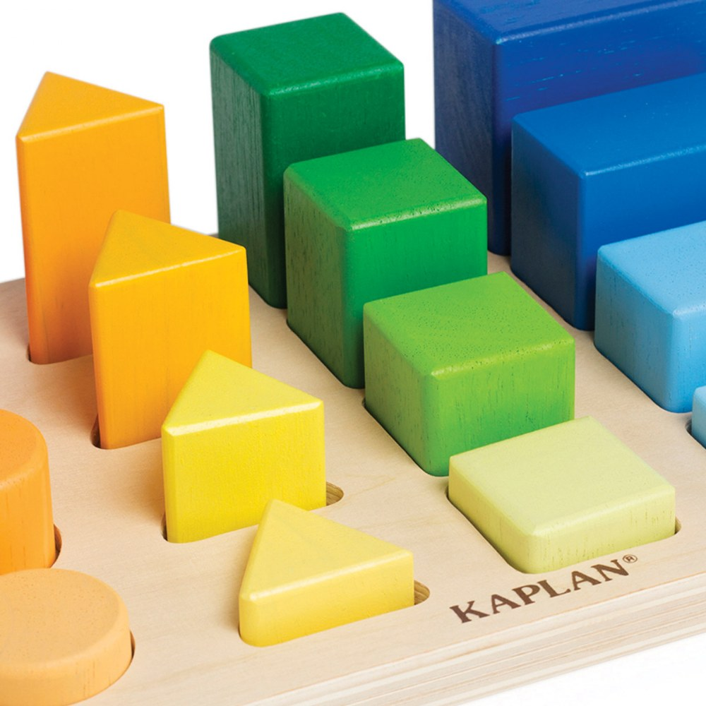 Alternate Image #2 of Wooden Toddler Colorful Shape and Height Sorter