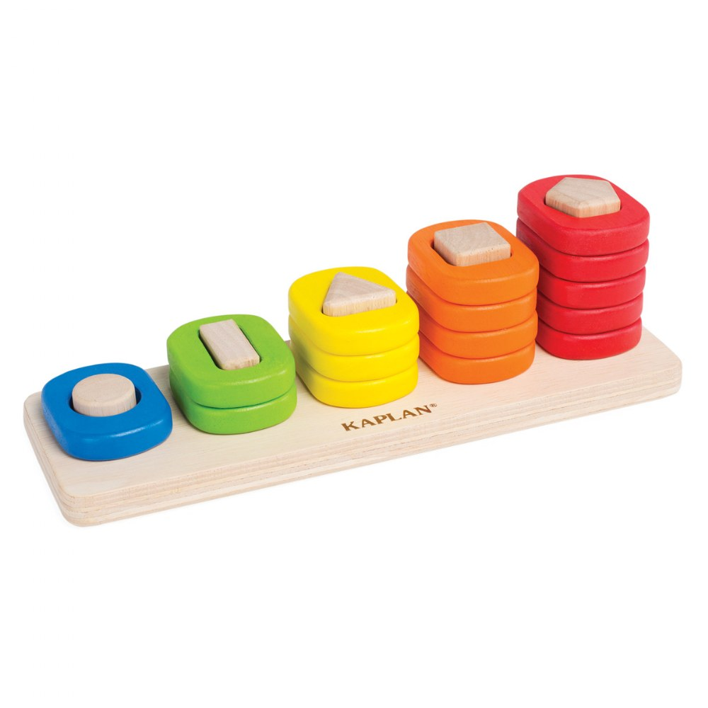 Toddler Shape Sorter, Stacker, and Geometric Puzzle