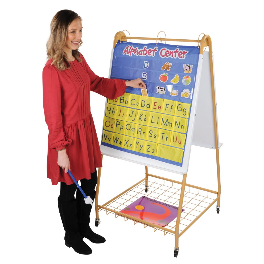 Alternate Image #1 of Mobile Teaching Flip Chart Writing Easel