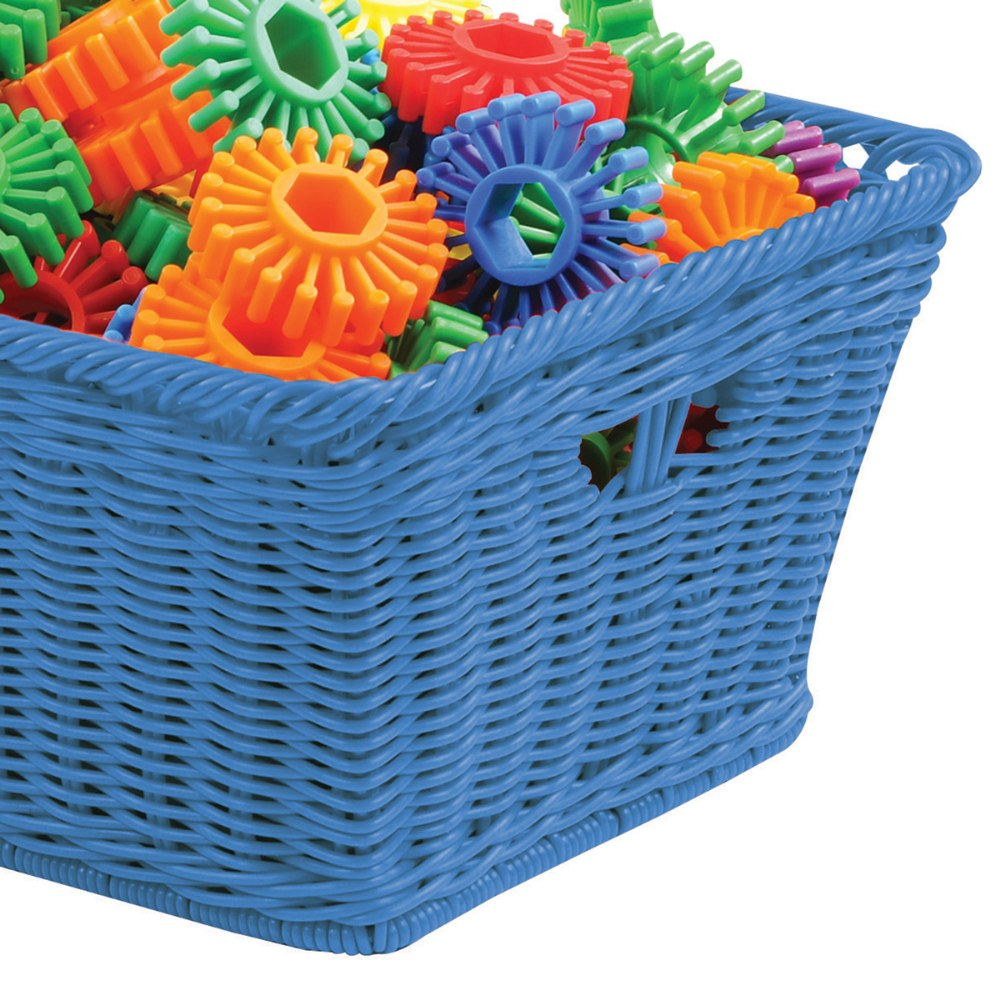 Alternate Image #1 of Small Plastic Wicker Basket - Each
