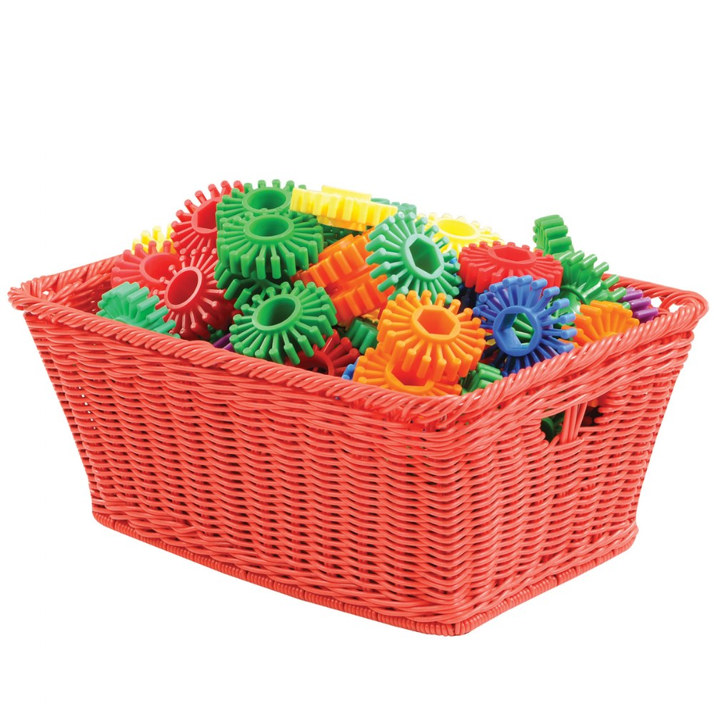Small Plastic Wicker Baskets - Set of 10