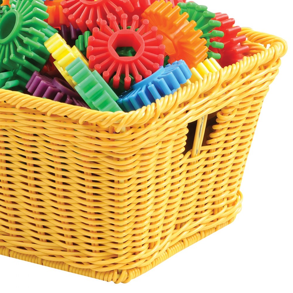 Alternate Image #5 of Small Plastic Wicker Basket - Each
