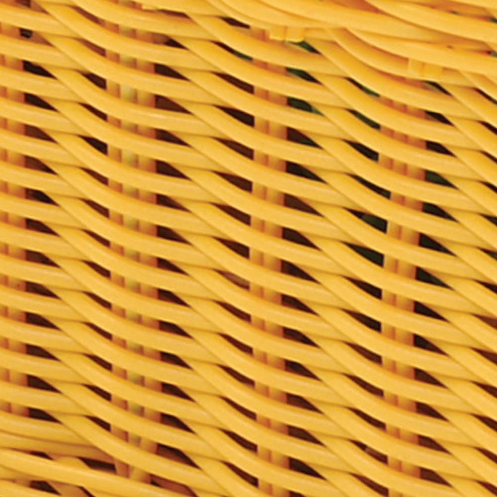Alternate Image #6 of Small Plastic Wicker Basket - Each