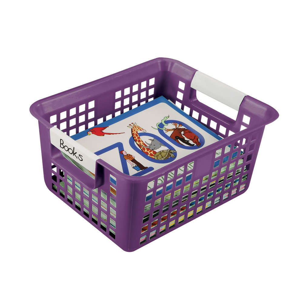 Book Basket with Label Holder (Each)