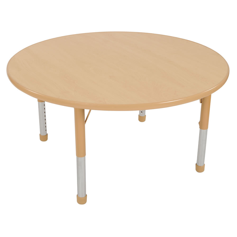 "Nature Color Chunky 42"" Round Tables (Seats 4)"