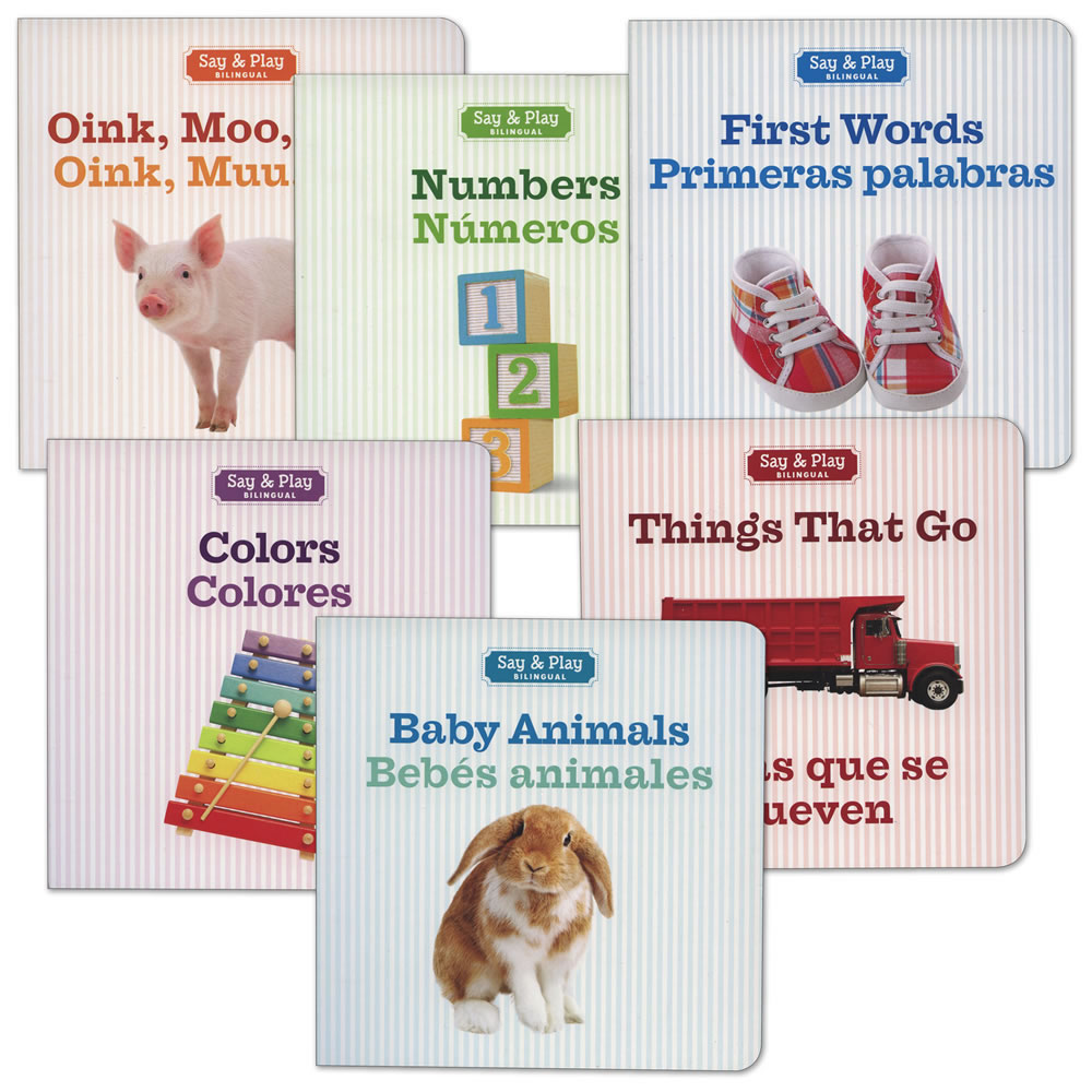 Say and Play Bilingual Board Book Set (Set of 6)
