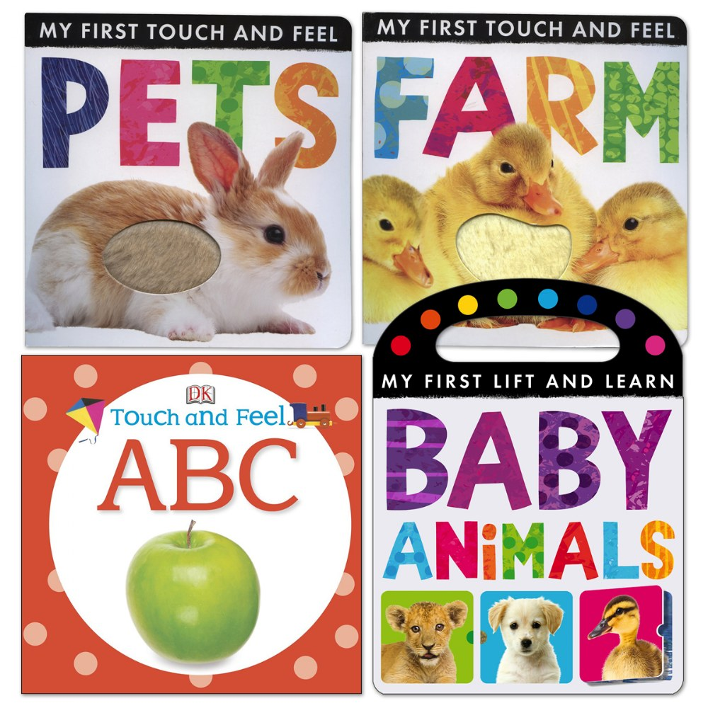 Photo Touch and Feel Board Books - Set of 4