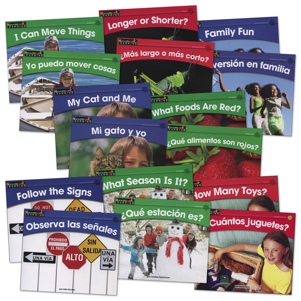 Beginning Readers Books - English & Spanish - Set of 16