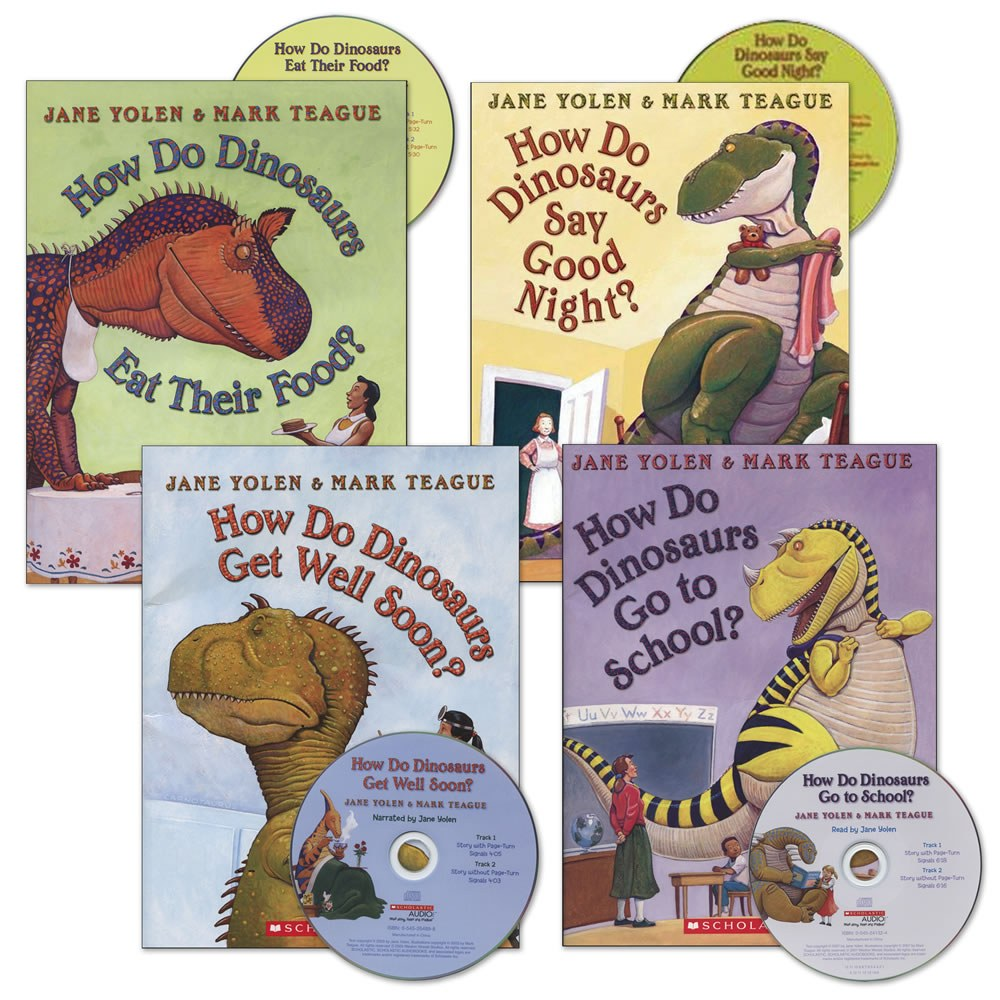 How Do Dinosaurs Book and CD Set (Set of 4)