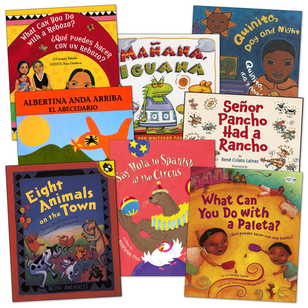 Spanish Words Embedded into Stories Book Set - Set of 8