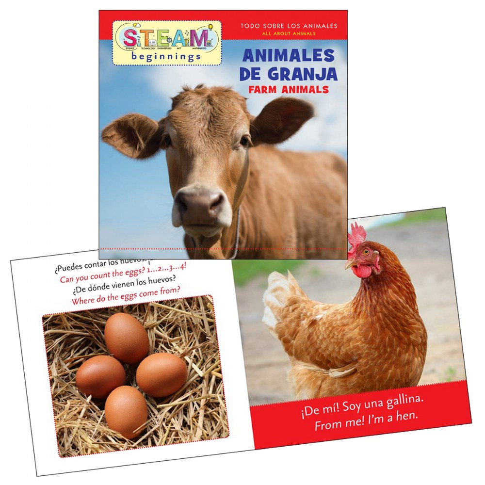 Alternate Image #2 of All About Animals Board Books - Bilingual Book Set