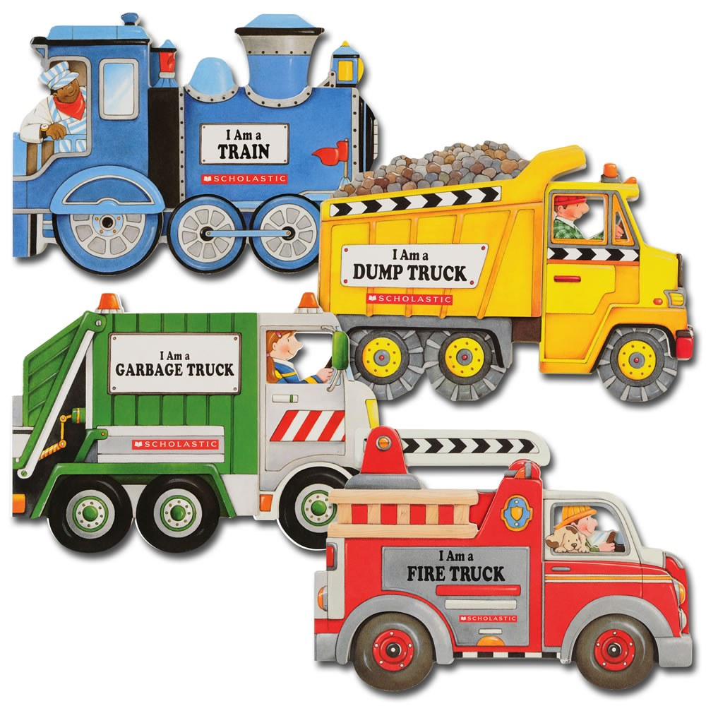 Truck and Train Board Books - Set of 4