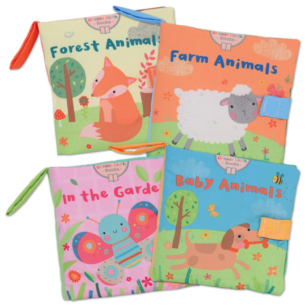 Crinkle Cloth Books - Set of 4