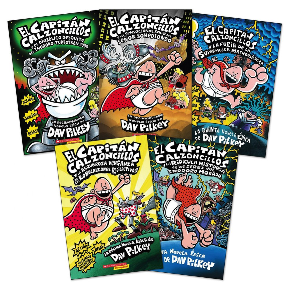 Captain Underpants Book Sets - Sets of 5