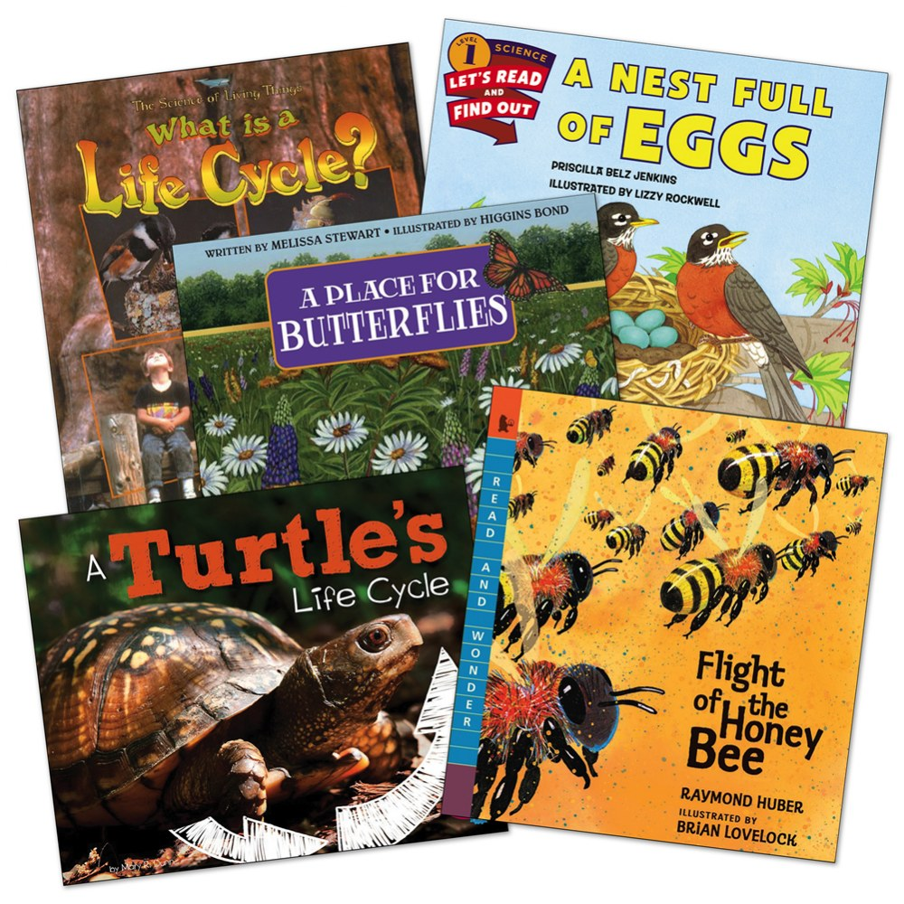 Life Cycle Theme Books - Set of 5
