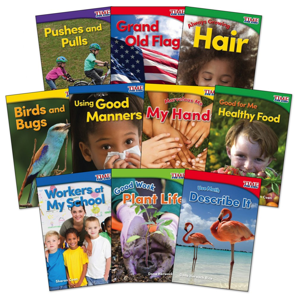 Time for Kids Nonfiction Reader Books Grade K Set 1 - Set of 10