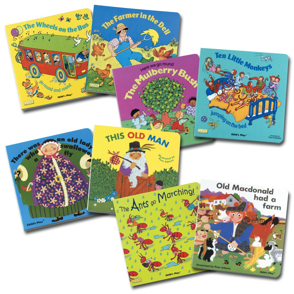 Rhythm and Rhyme Board Books - Set of 8