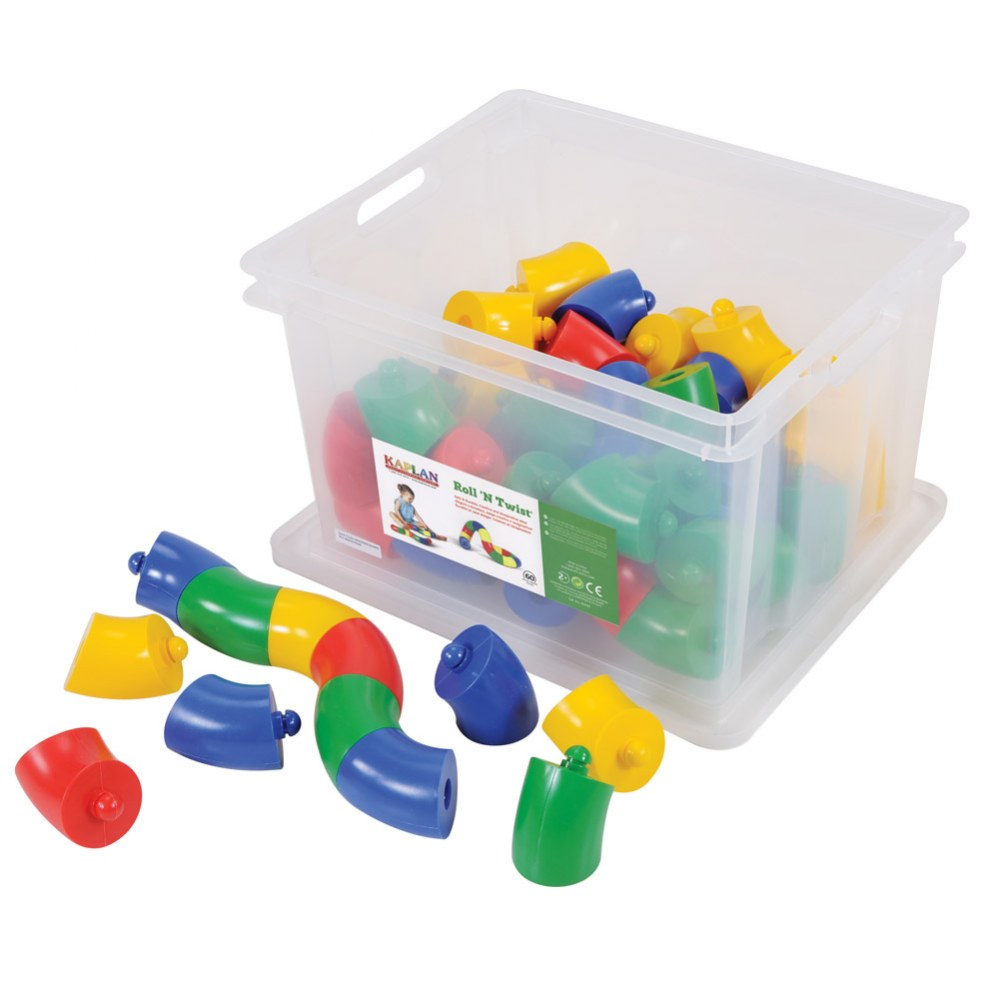 Roll 'N Twist Jumbo Manipulative Set - 60 Pieces