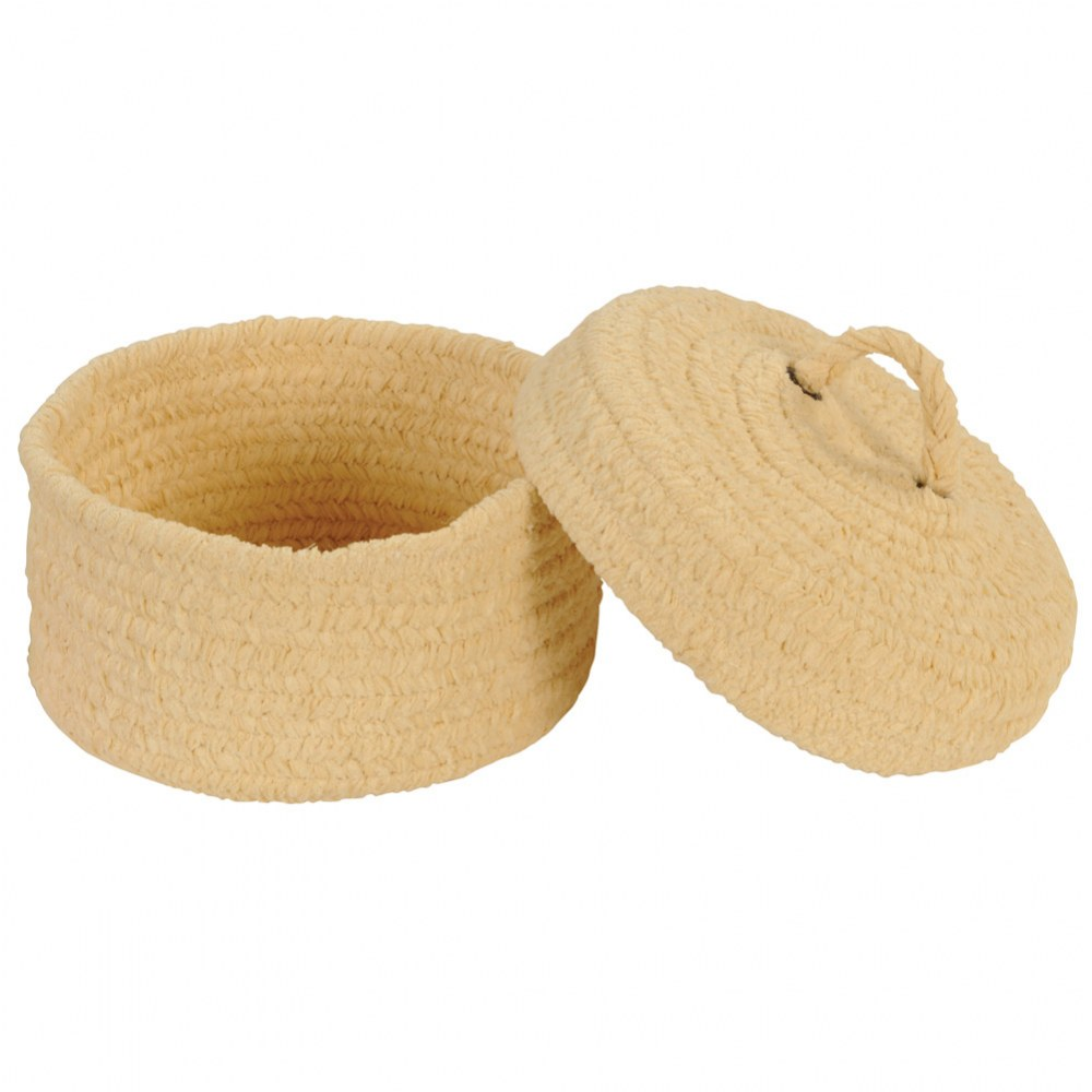 Soft Woven Peekaboo Basket with Lid