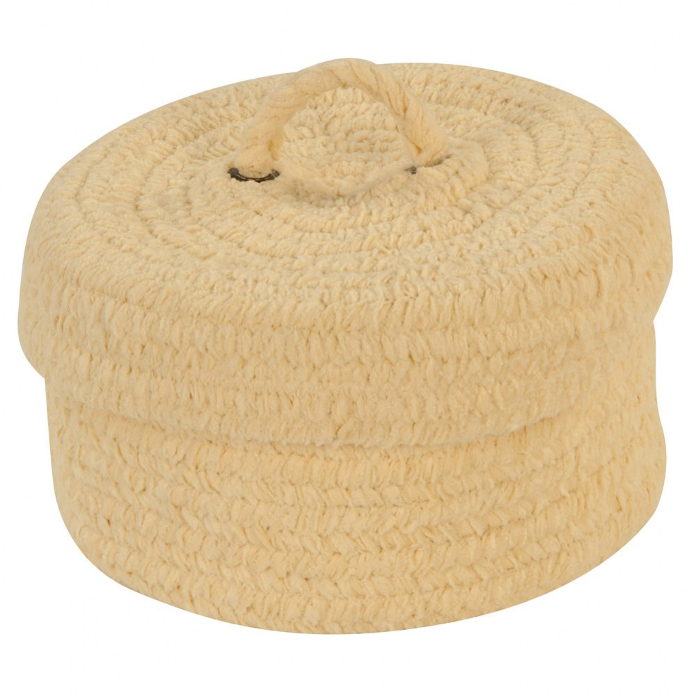 Alternate Image #3 of Soft Woven Peekaboo Basket with Lid