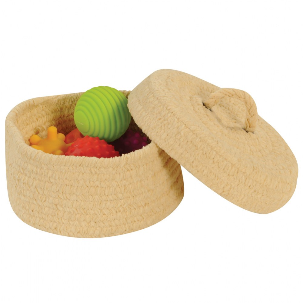 Alternate Image #1 of Soft Woven Peekaboo Basket with Lid