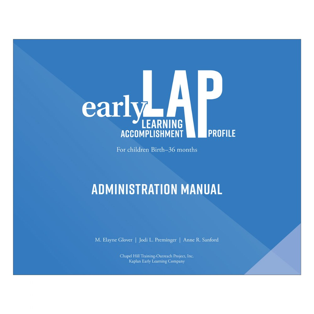 E-LAP™ Administration Manual, 3rd Edition