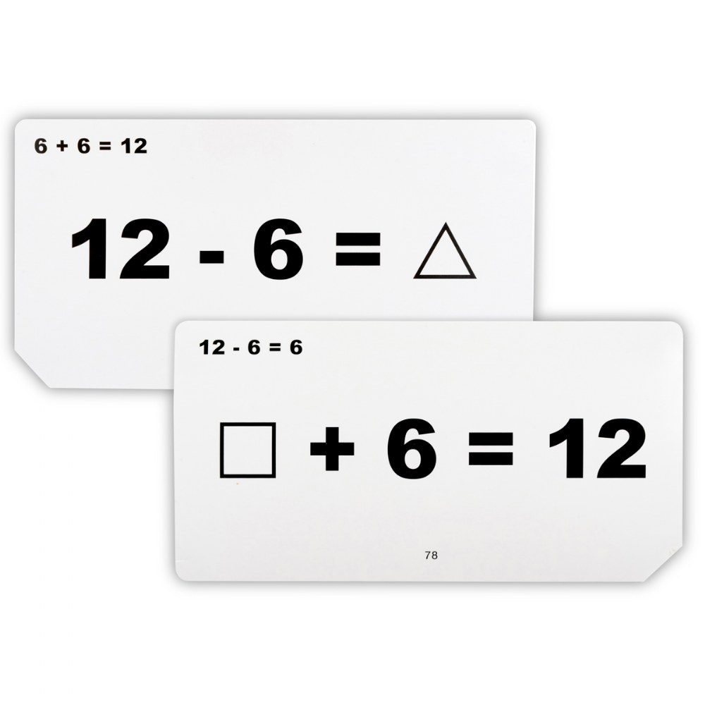 Alternate Image #1 of Addition and Subtraction Unknown Quantities Flashcards