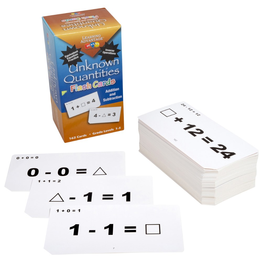 Addition and Subtraction Unknown Quantities Flashcards