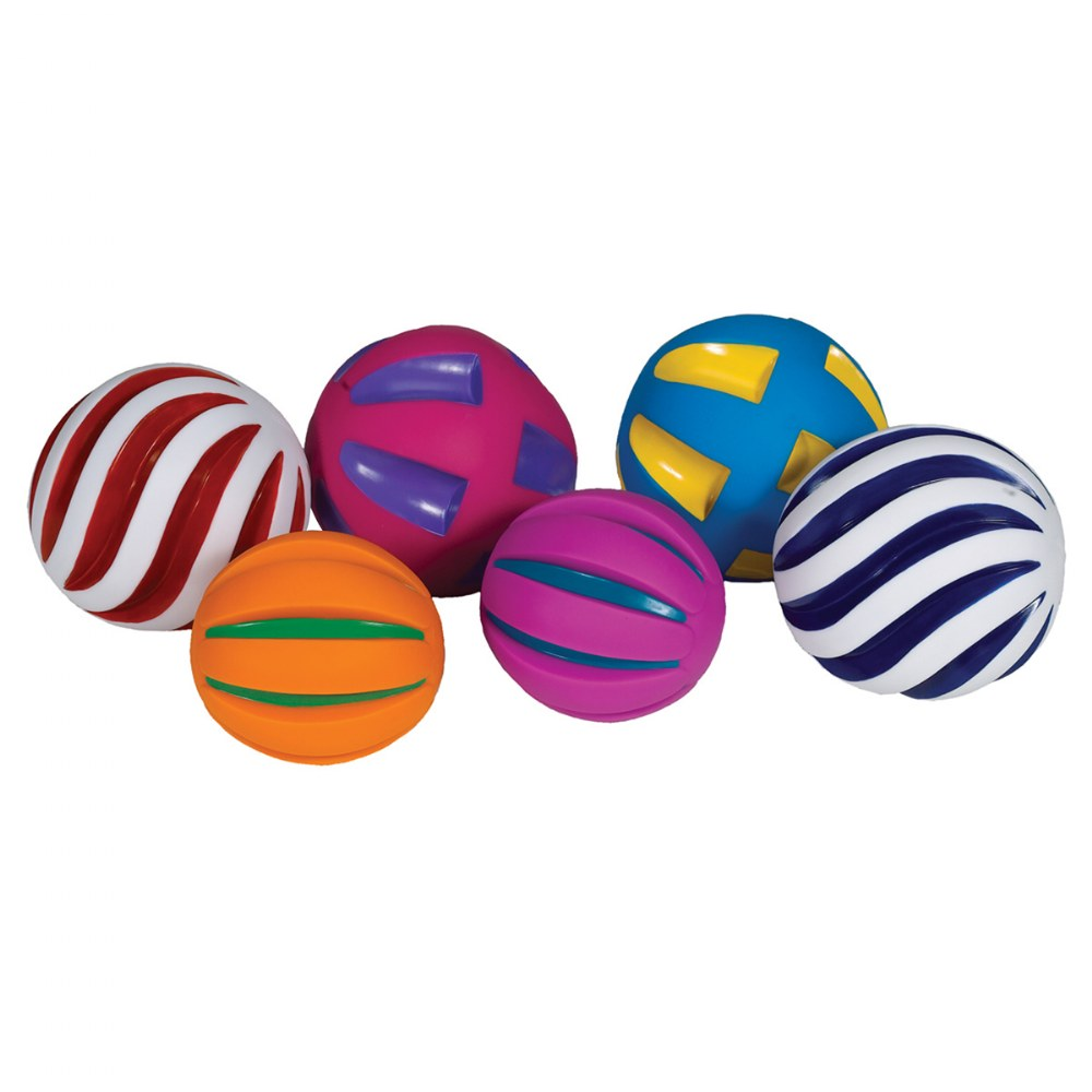 Alternate Image #1 of Tactile Squeaky Ball Set - Set of 6