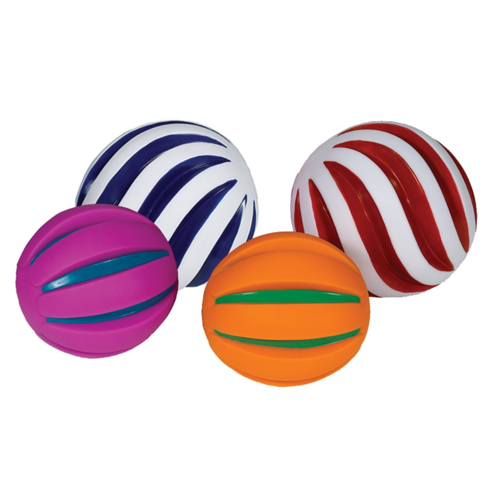Alternate Image #2 of Tactile Squeaky Ball Set - Set of 6