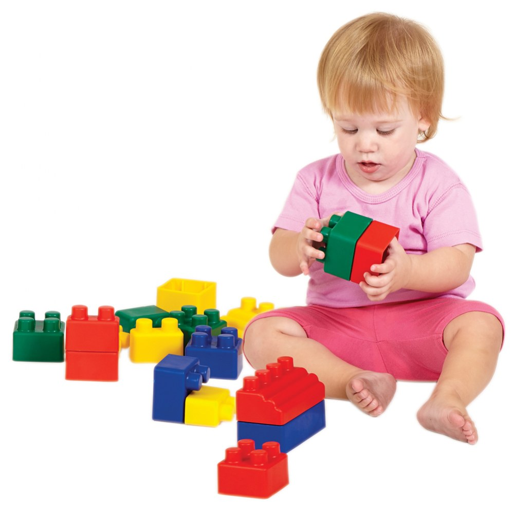 Alternate Image #1 of Colorful Flexible Soft Mini EduBlocks - 52 Pieces