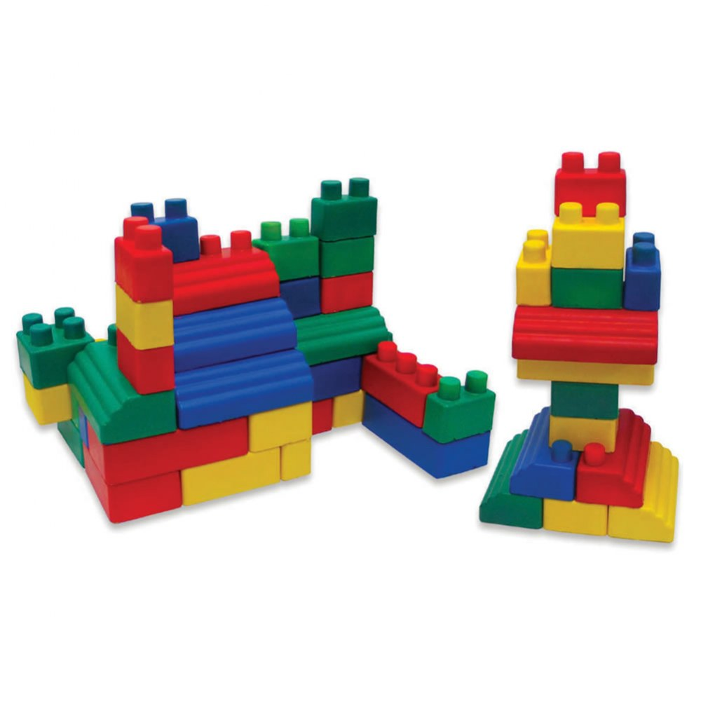 Alternate Image #2 of Colorful Flexible Soft Mini EduBlocks - 52 Pieces